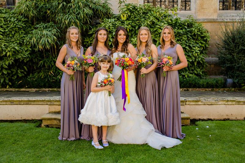 Rushton Hall wedding flowers by Fieldgate Flowers, wedding florist Northamptonshire