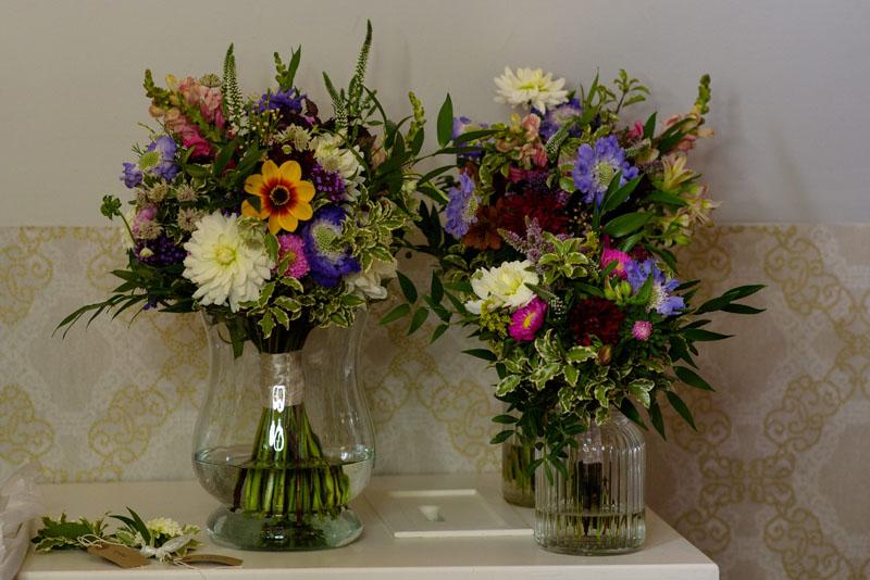 Seasonal british flowers grown by Field Gate Flowers for weddings