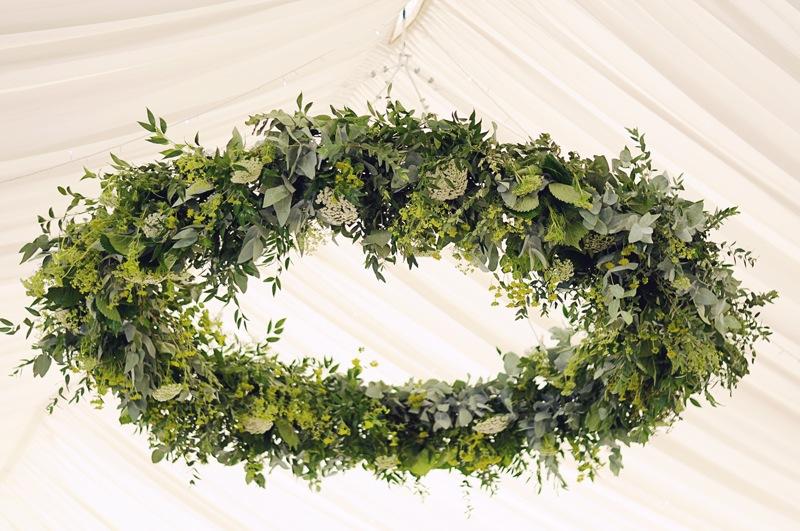 wedding flower hoops inspiration from british flower grower Field Gate Flowers