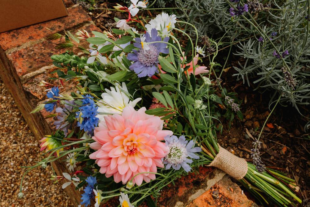 Wedding flowers The Granary at Fawsley wedding venue