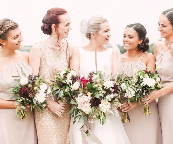 Bridesmaids Bouquets Field Gate Flowers 6