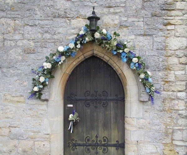 Wedding Church Flowers Field Gate Flowers 4