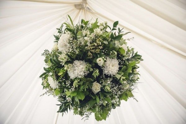 Marquee Wedding Flowers Field Gate Flowers 12